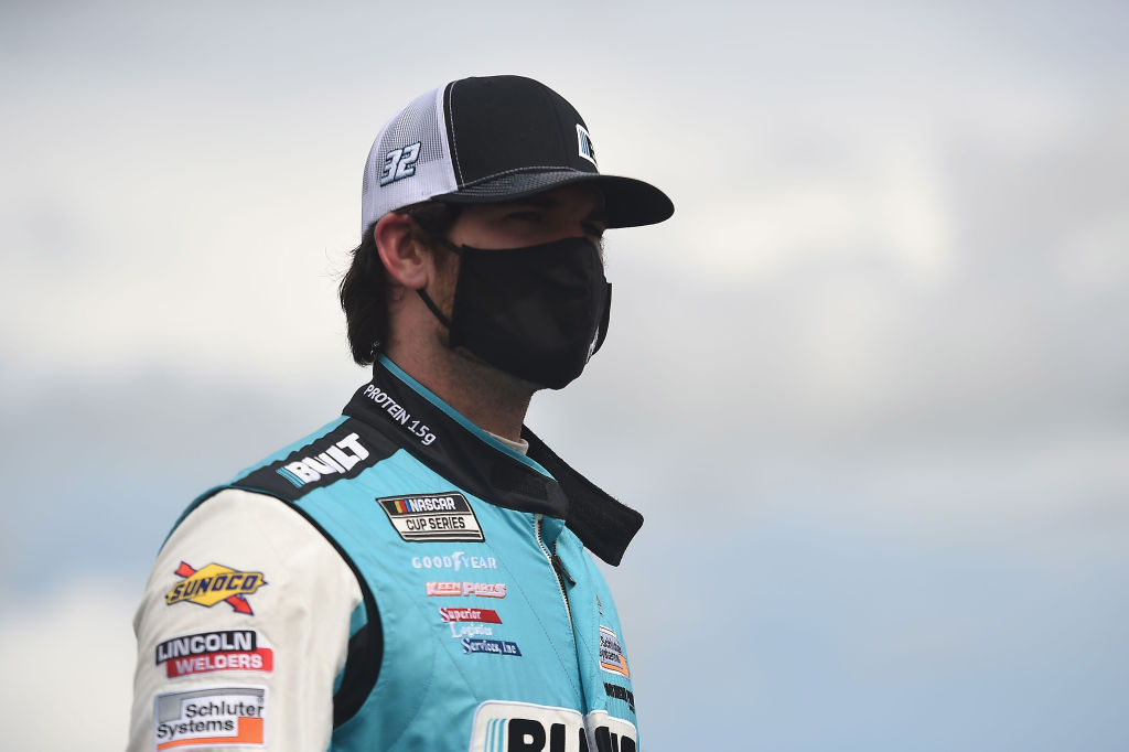 Corey LaJoie, driver of the #32 Built Bar Ford, waits on the grid prior to the NASCAR Cup Series Pocono Organics 325 in partnership with Rodale Institute at Pocono Raceway on June 27, 2020 in Long Pond, Pennsylvania. (Photo by Jared C. Tilton/Getty Images)