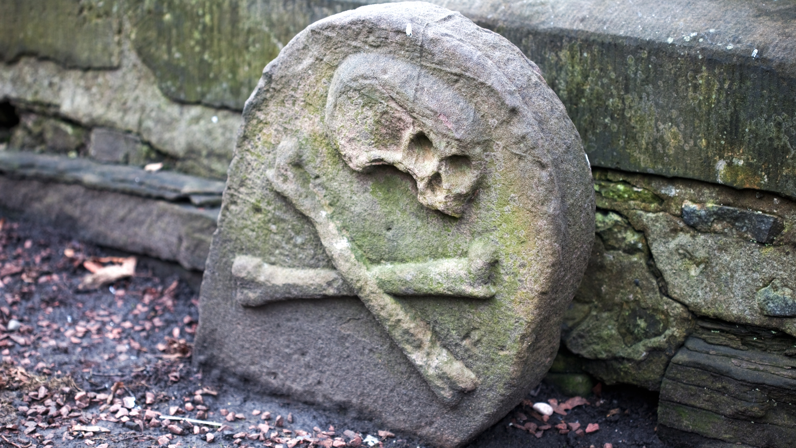 Grave of Black Death victim, Greyfriars cemetery, Edinburgh. (Getty Images)
