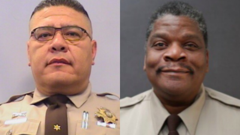 Officials say a 25-year veteran, Law Enforcement Sergeant Ernie Quintero and a 15-year-veteran, Detention Officer Kevin Fletcher passed away Monday.