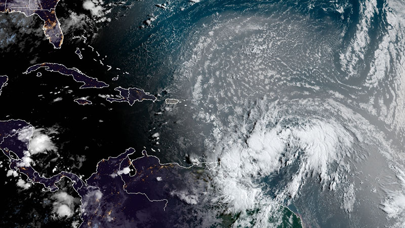 Low pressure system likely to become tropical depression or storm in the Atlantic Ocean