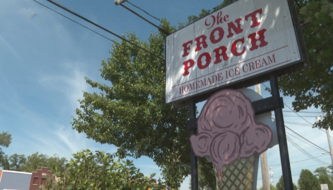 The Front Porch ice cream shop in Spring Lake.