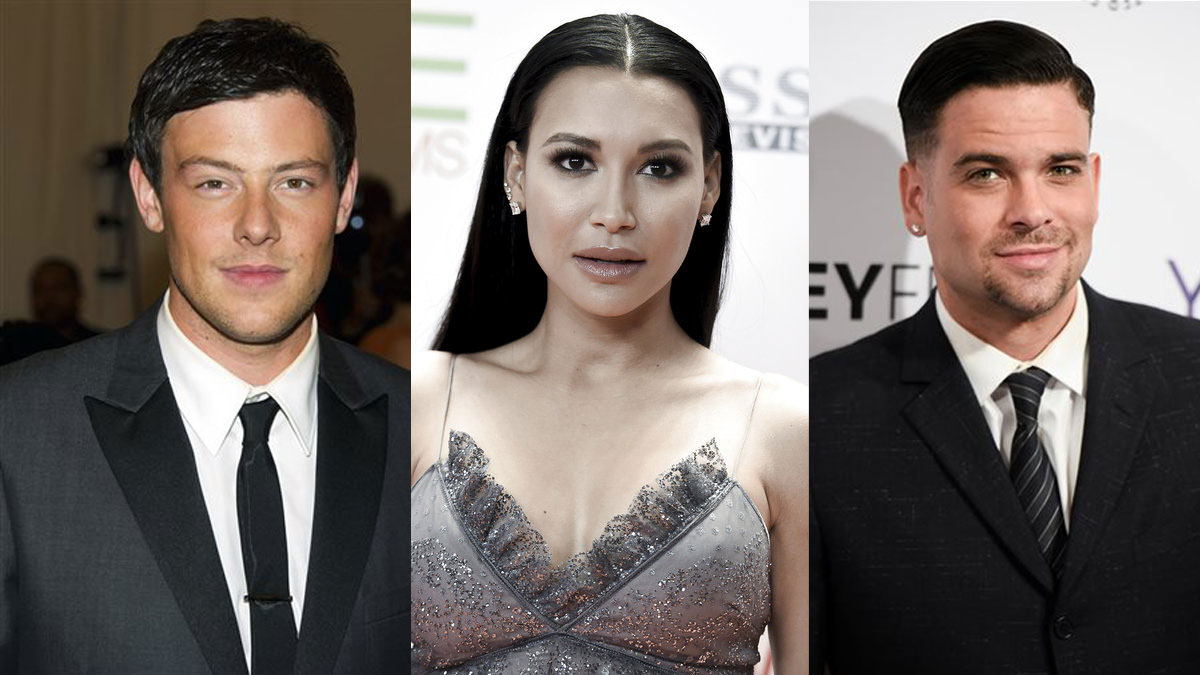 Cory Monteith, Naya Rivera and Mark Salling (AP file photos)