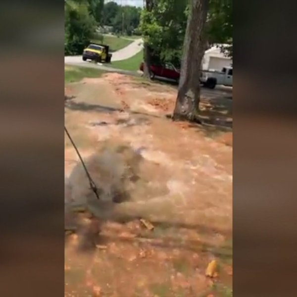 Thomasville family's yard floods after fire hydrant damaged in hit-and-run; highway patrol looking for suspect