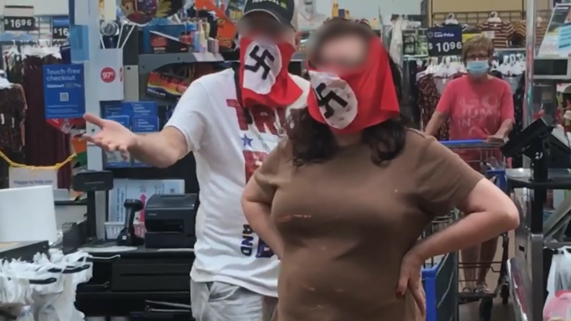 Great granddaughter of anti-Nazi resistance fighter confronted a couple wearing swastika masks in a US Walmart