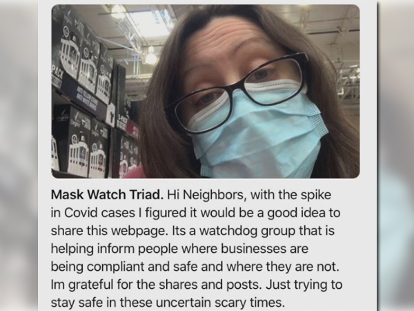 Facebook page allows people in the Triad to share dining, shopping experiences during mask mandate