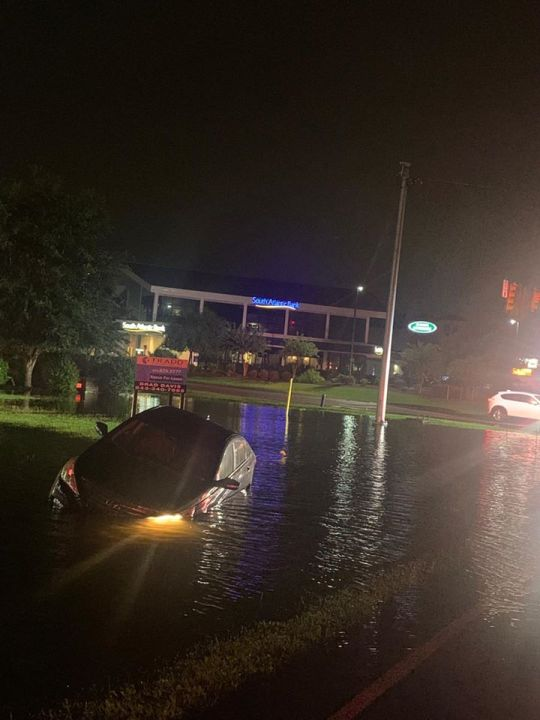 At 8:21 p.m., Horry County Fire Rescue crews were dispatched to a sinking vehicle call in floodwater at 4999 Carolina Forest Blvd. (Horry County Fire Rescue)