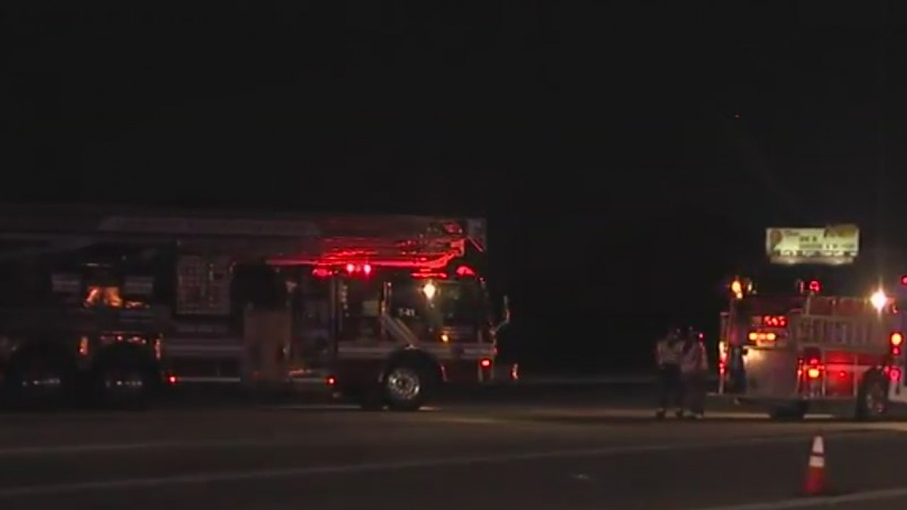 Tractor-trailer crashes into 3 firetrucks on scene of fire on I-85 south in Rowan County