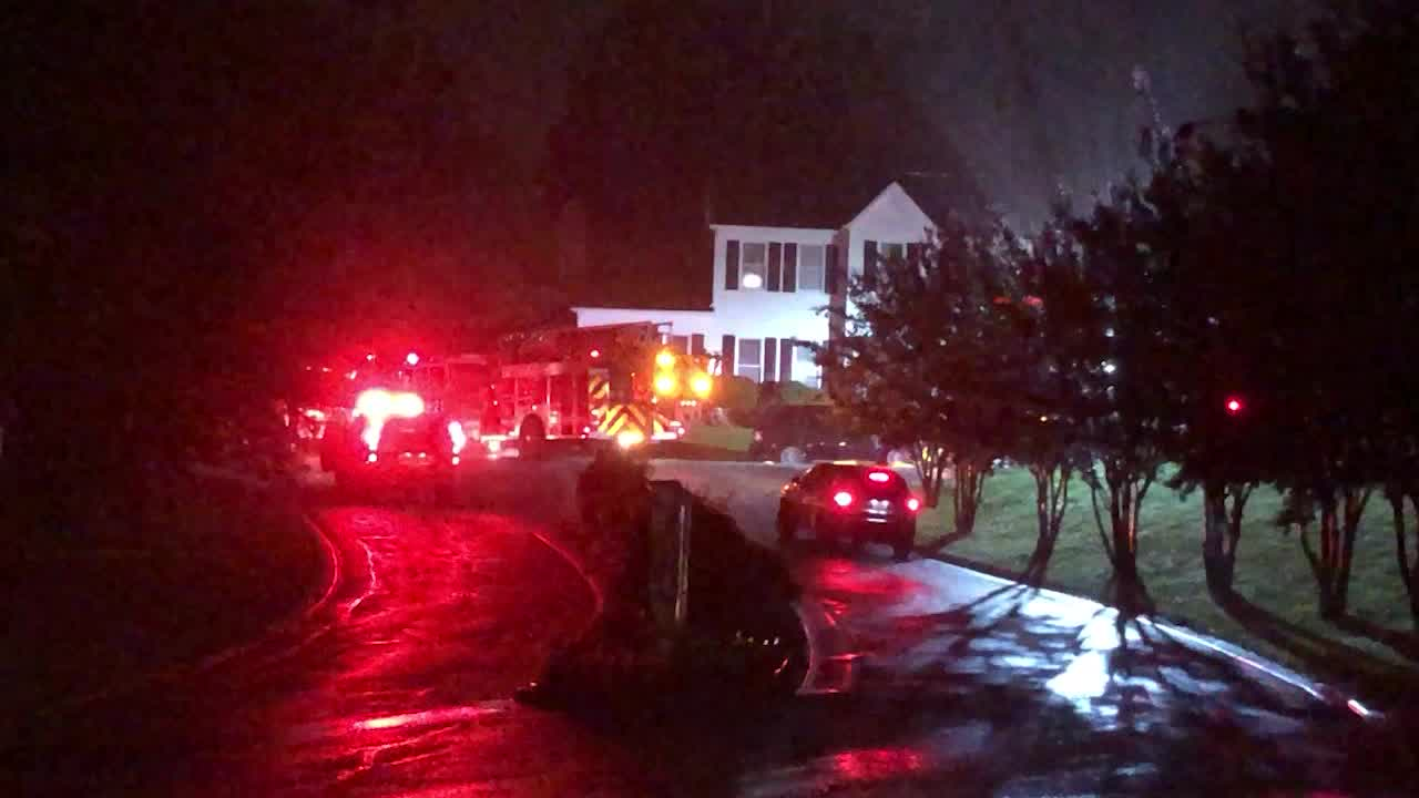 Possible lightning strike sets Greensboro home on fire, causes about $30,000 in damage, firefighters say