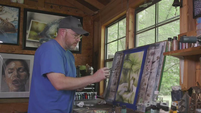 Randolph County man creates awesome airbrush works of art