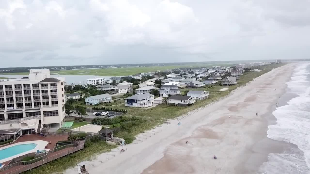 Wrightsville Beach as Tropical Storm Isaias approaches Carolina coast (WGHP)