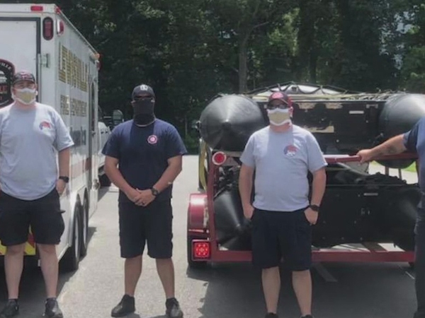Lewisville, King fire departments' swift water rescue team deployed to North Carolina coast