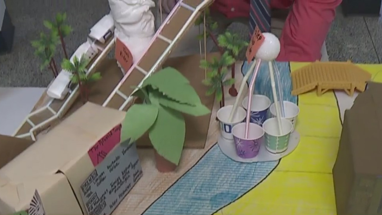 Alexander Wilson Elementary School's STEAM Club put pedal to the metal to make their own amusement parks