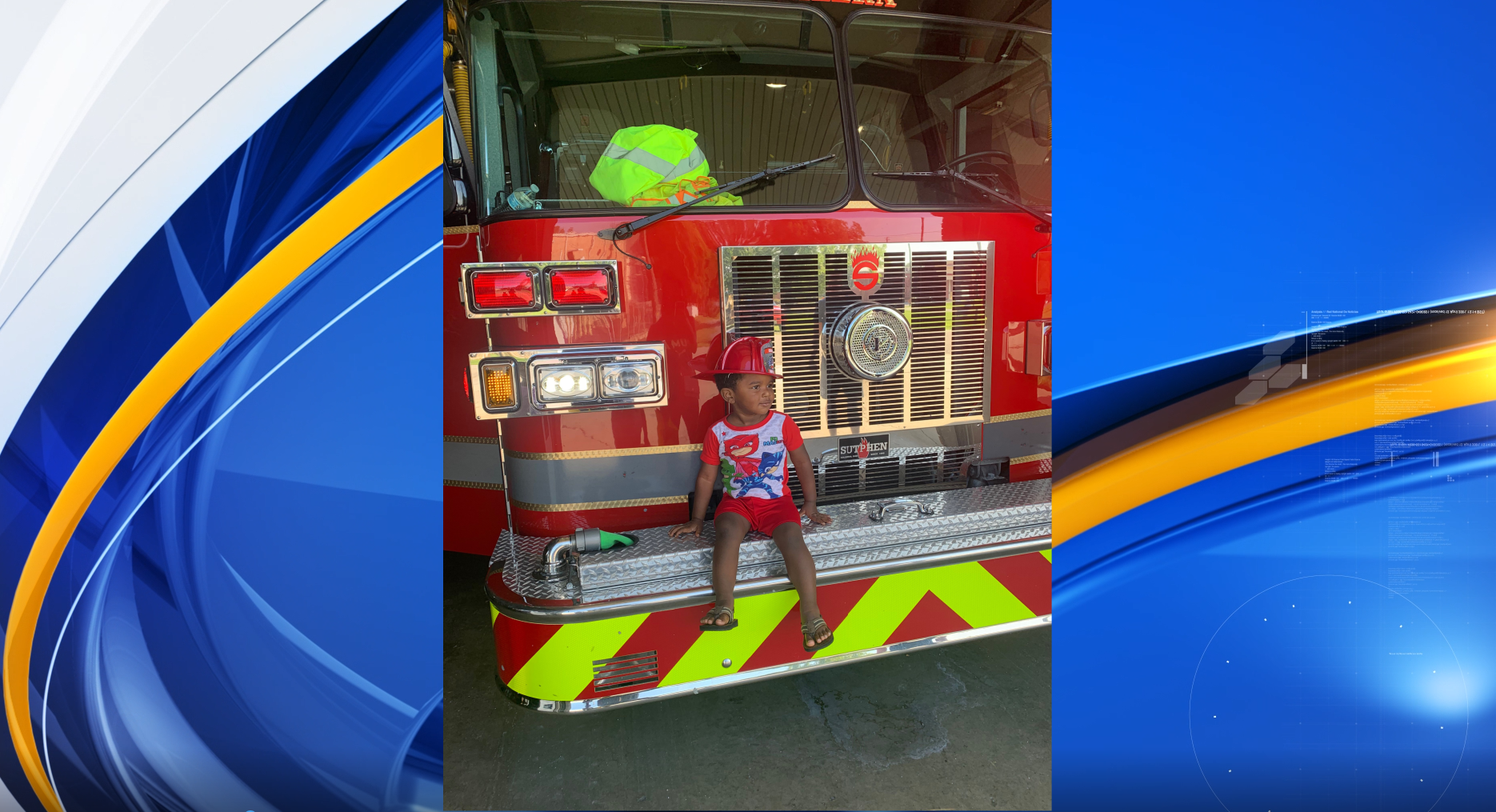 Calera Fire Department helps toddler (Courtesy/Kris Watson)