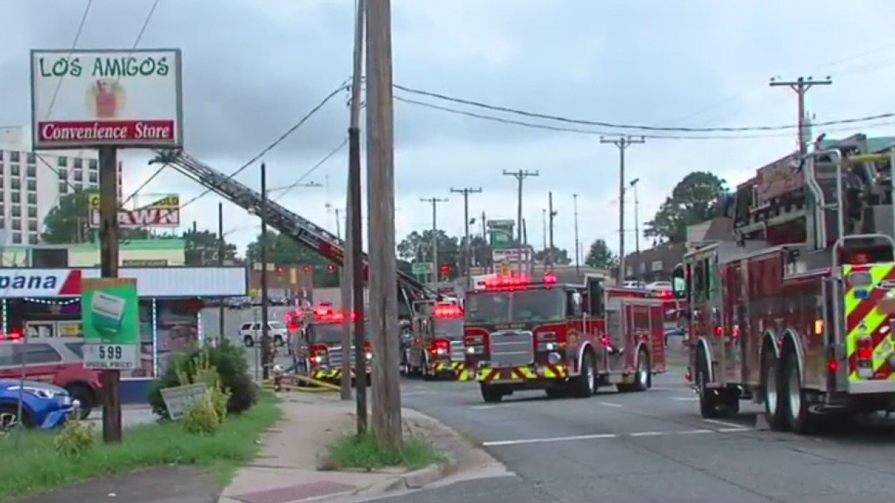 Firefighters face blaze at High Point business on South Main Street