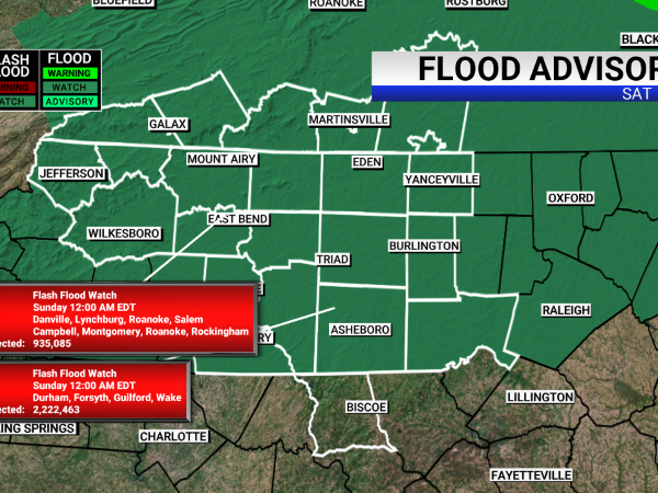 A Flood advisory has been issued in the FOX8 viewing area