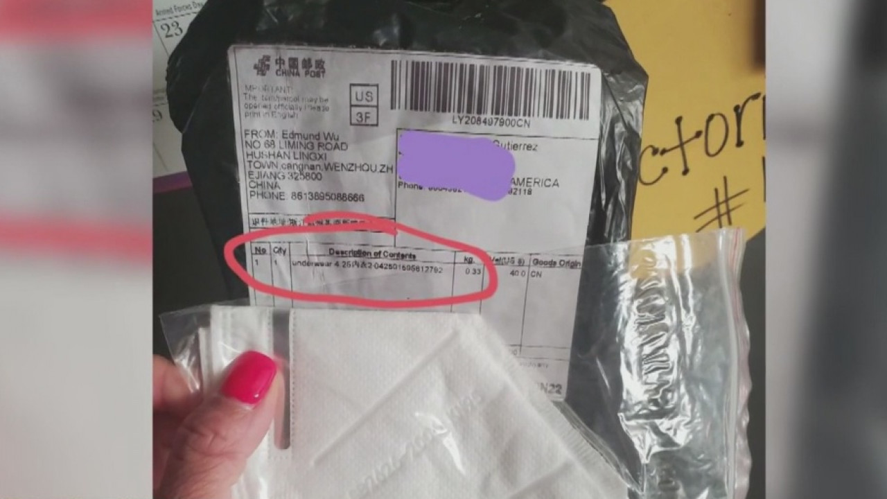 Mystery masks: Unsolicited face masks from China arriving in mailboxes