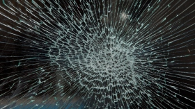 Close-up of broken glass (Getty Images)