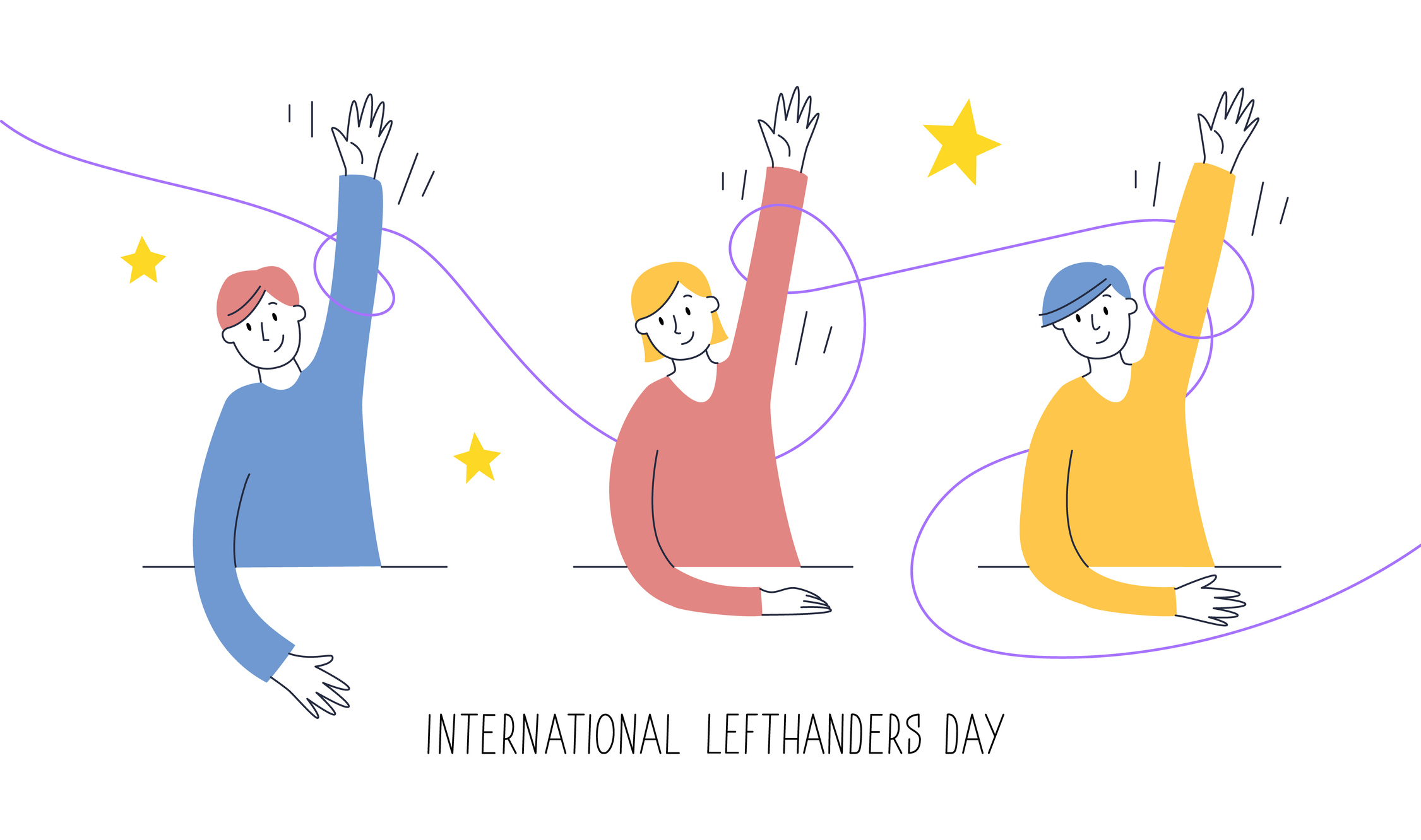 International Lefthanders Day (Vector illustration/Getty Images)
