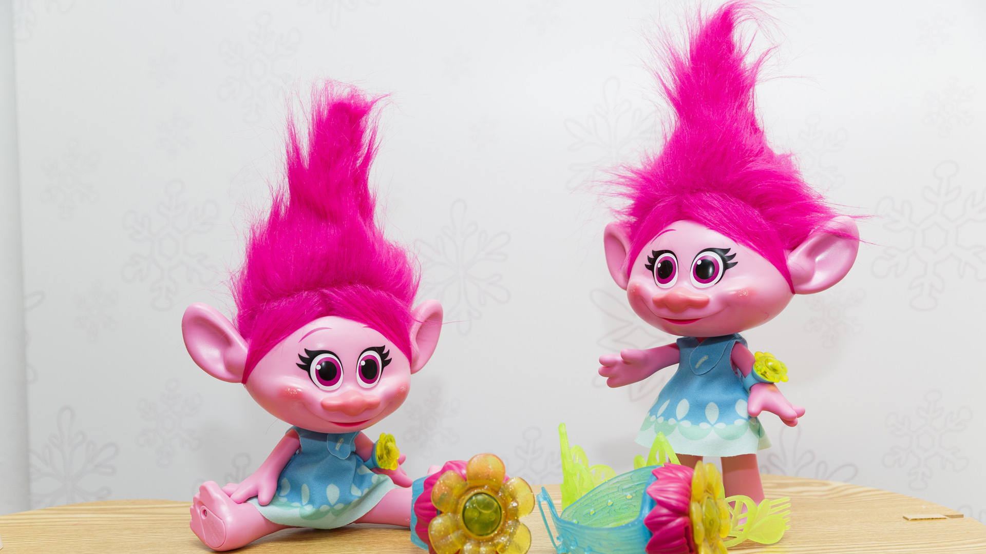 DreamWorks Troll Poppy dolls are displayed as Hamley's announce it's top ten toys for Christmas at Hamleys on October 6, 2016 in London, England. (Photo by Tristan Fewings/Getty Images)