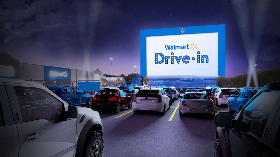 Walmart announces dates, locations for its parking lot drive-in theaters
