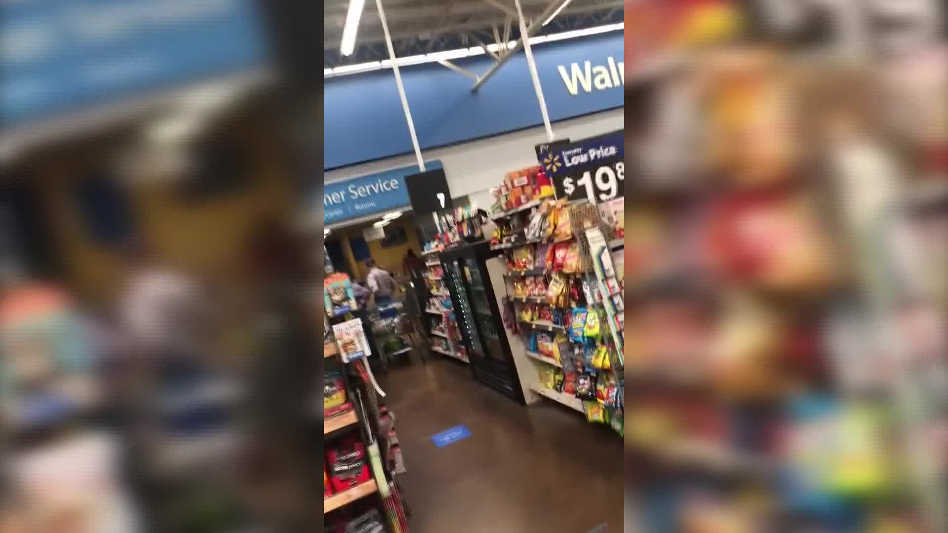 Half-naked man caught on video punching 72-year-old Walmart employee, police say