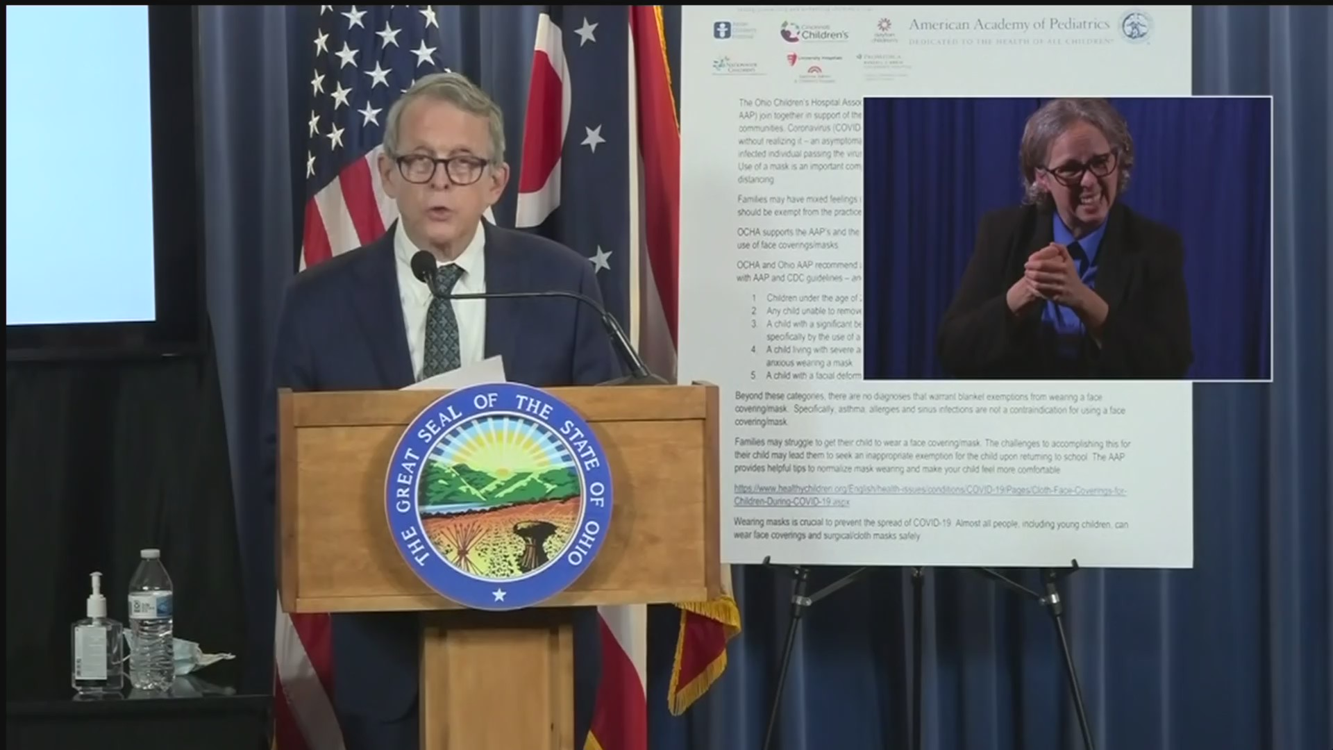 Gov. Mike DeWine (Credit: Via WJW)