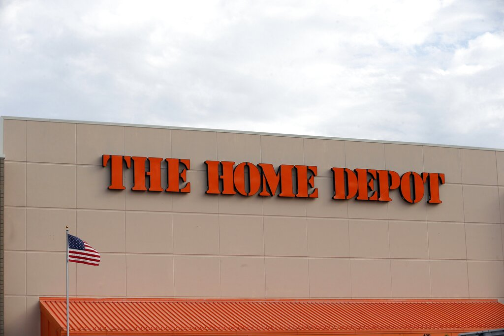 Home Depot's fiscal second-quarter sales surged to easily top Wall Street's expectations as consumers continued working on home projects and gardening amid the coronavirus outbreak. (AP Photo/Jim Mone, File)
