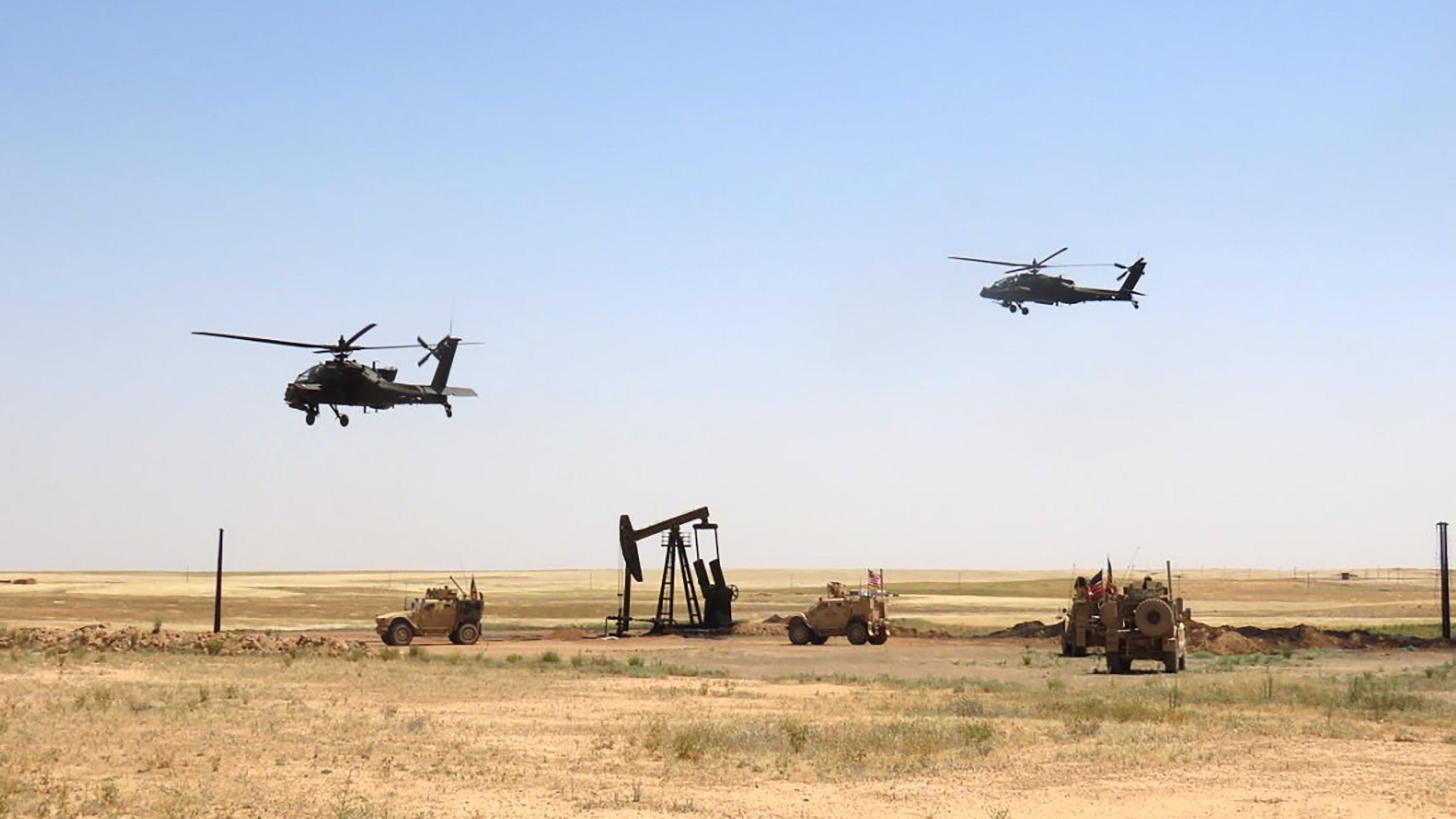 US forces have helped the Syrian Democratic Forces secure oil fields in eastern Syria to protect against ISIS and other threats. (Special Ops Joint Task Force-OIR)