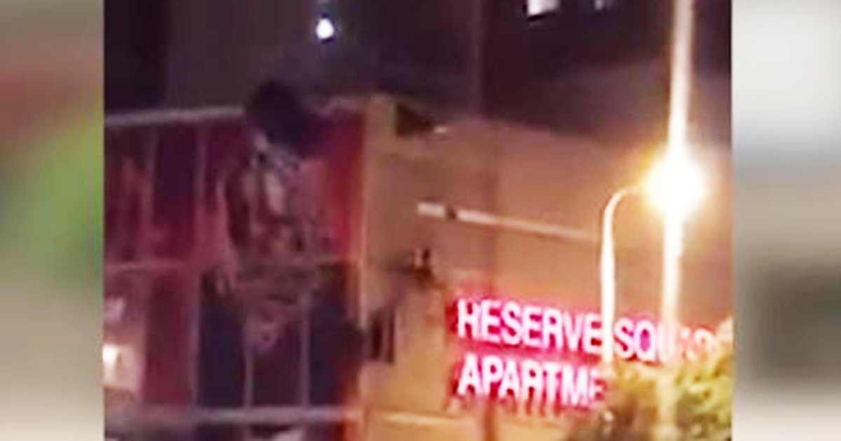 Video shows man in parachute slam into building in downtown Cleveland