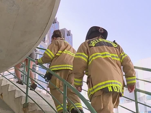 Firefighters climb 72 flights of stairs to honor heroes of 9/11