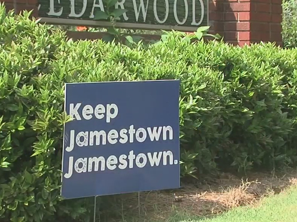'Keep Jamestown Jamestown' signs flood the town in protest of development project