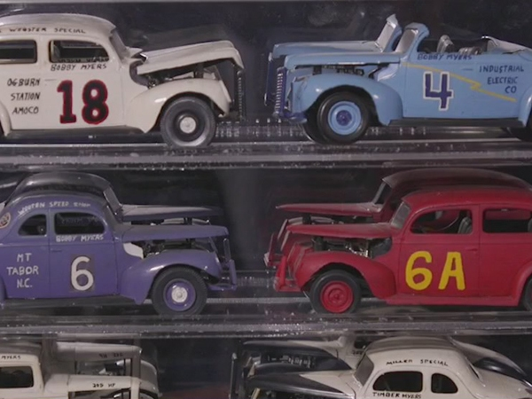 Chocolate Myers has prized model collection of late father's racing cars