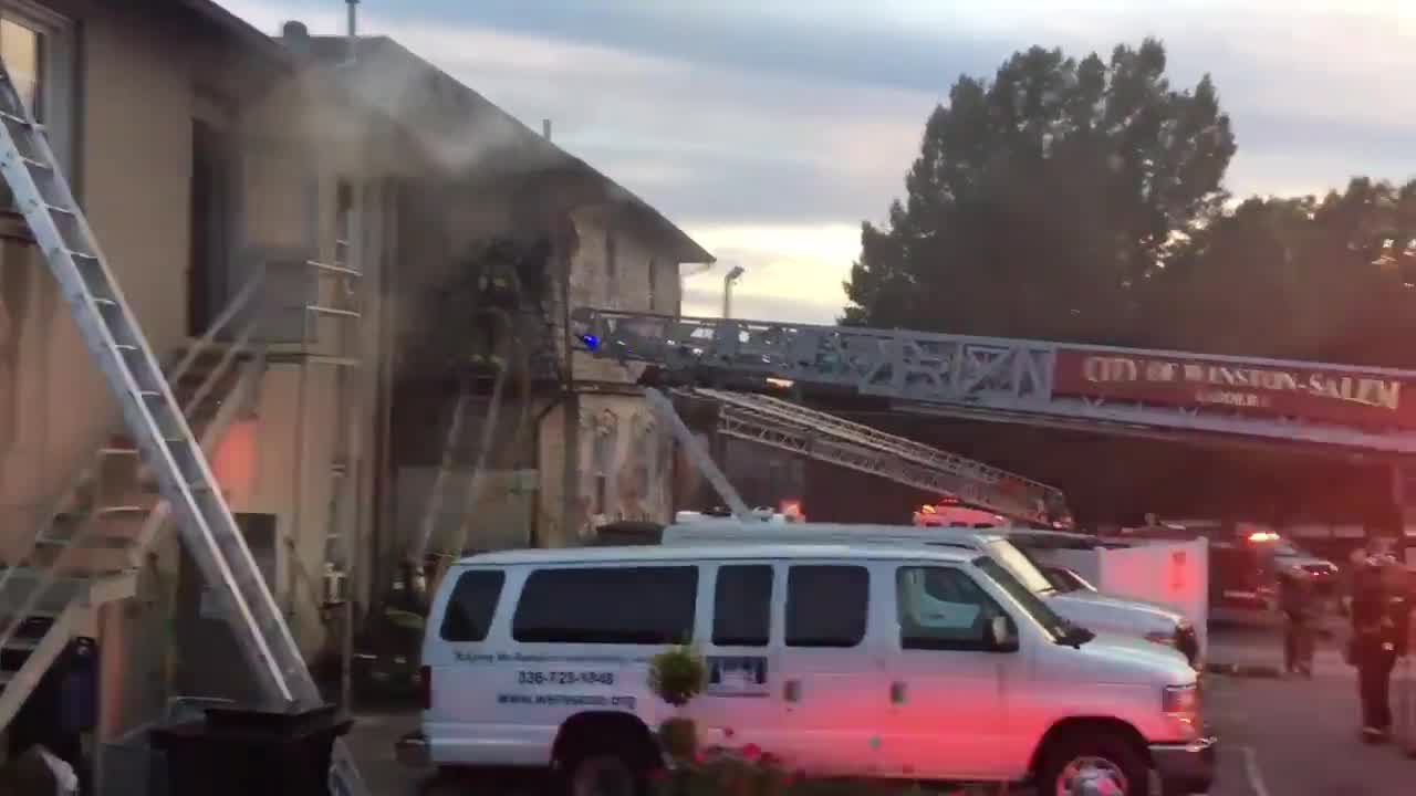 55 displaced after fire in Winston-Salem