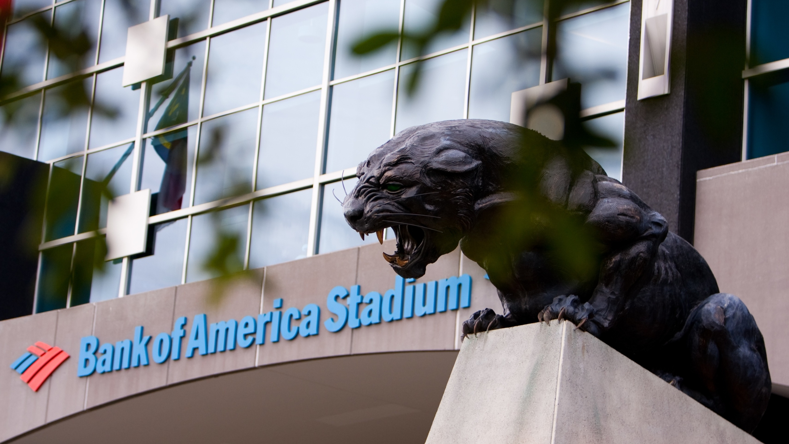 An exterior view of Bank of America Stadium in Charlotte, North Carolina. (Photo by Tim Steadman/Icon SMI/Corbis/Icon Sportswire via Getty Images)