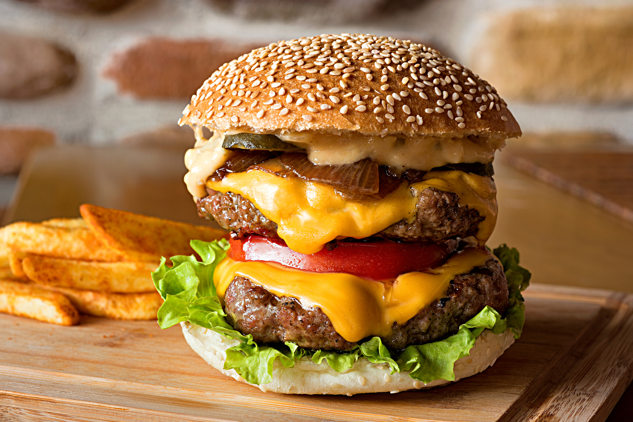 Double cheeseburger with french fries (Getty Images)