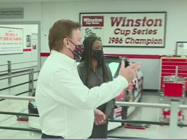 US fish and wildlife service director tours Richard Childress Racing Wildlife Conservation Gallery