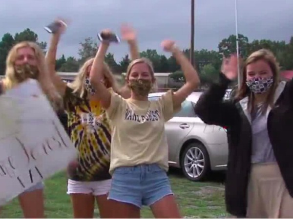 Wake Forest fans tailgate outside game