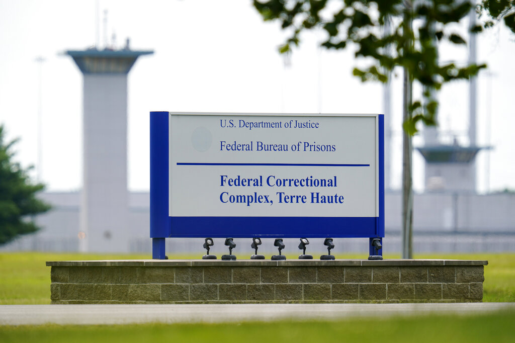 The federal prison complex in Terre Haute, Indiana. (AP Photo/Michael Conroy, File)