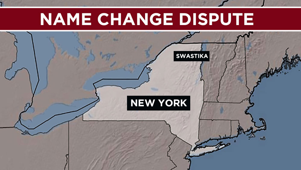 The town of Swastika, NY chooses to keep its name