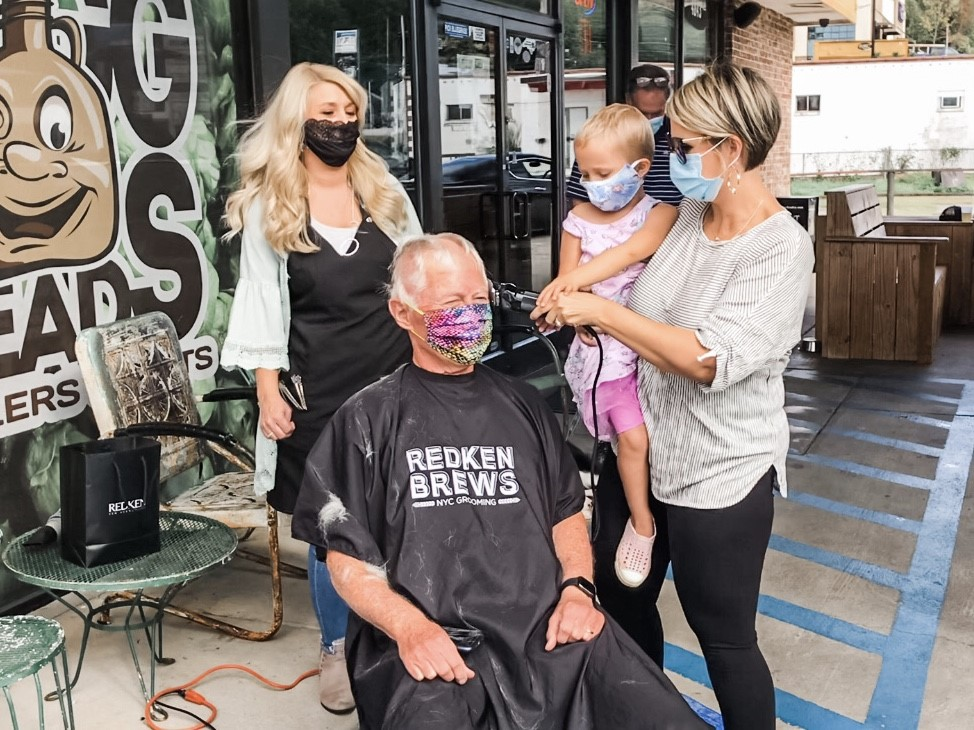 26 people in Winston-Salem go bald for childhood cancer research, help raise $40,000