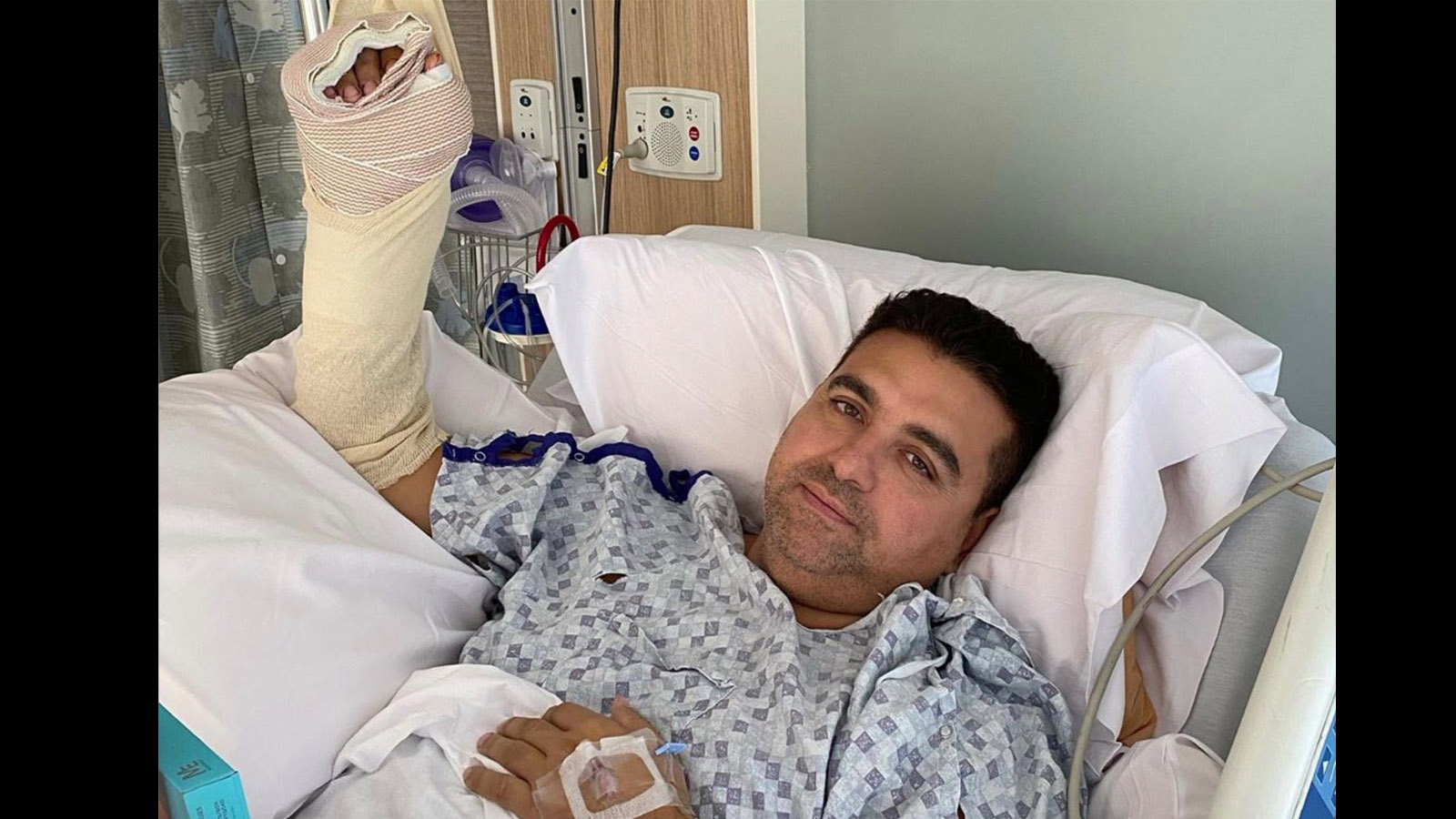'Cake Boss' star Buddy Valastro is at home recovering from multiple surgeries following a gruesome bowling accident that left his left hand impaled.