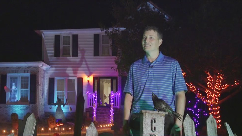 Davidson County man takes Halloween decorating to the next level