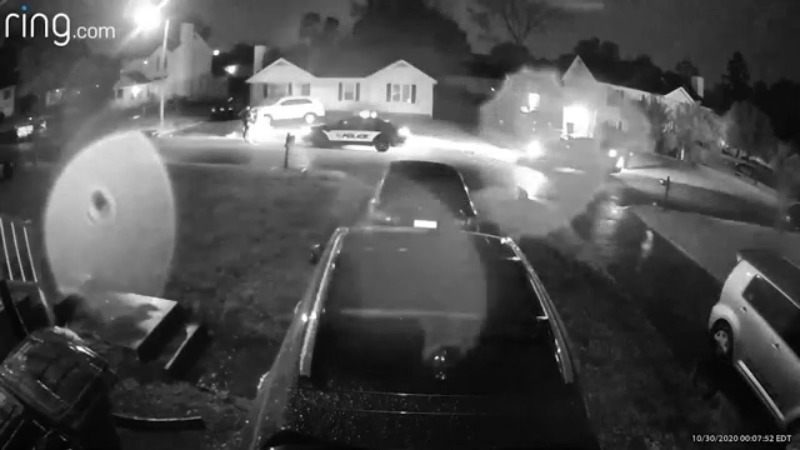 Security camera videos show officer-involved shooting in Greensboro neighborhood