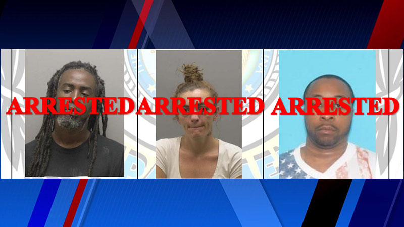 James Morgan Hines, Heather Danielle Small and Samual Donnell Corbet were all arrested.