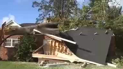 Family's daughter watches massive tree crush home in Summerfield during Tropical Storm Zeta
