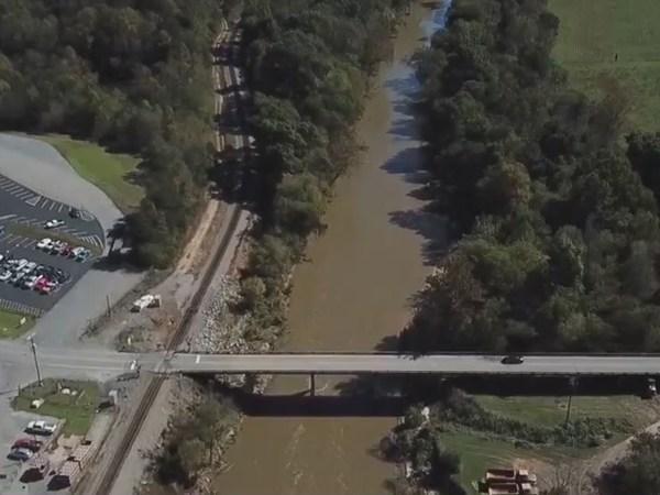 Plans to lower dam at Lindsey Bridge Road along Dan River