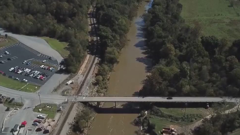 Plans to lower dam at Lindsey Bridge Road along Dan River