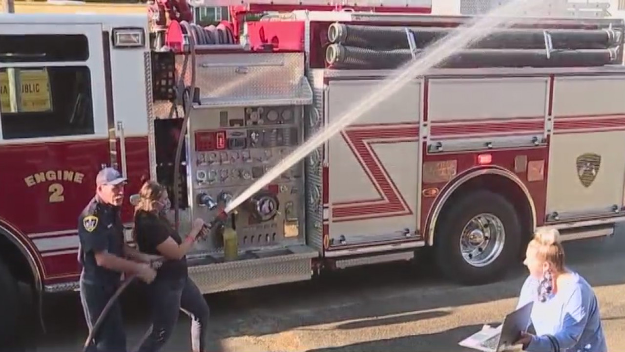 Alamance County Elementary School students learning about fire safety virtually