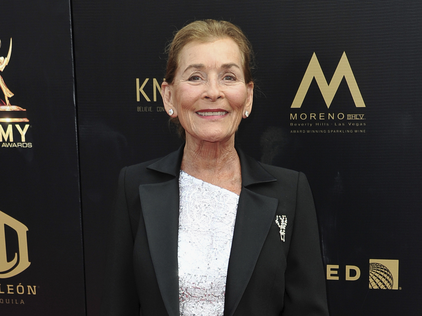 "FILE - Judge Judy Sheindlin arrives at the 46th annual Daytime Emmy Awards in Pasadena, Calif., on May 5, 2019. Sheindlin, whose long-running syndicated courtroom show ""Judge Judy"" will end production in 2021, will be dispensing justice on an exclusive show in the U.S. for IMDb TV. (Photo by Richard Shotwell/Invision/AP, File)"