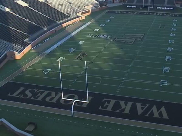 Inside look at how Wake Forest University prepared for football fans in the stands